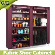 Cabinet démontable d'organisateur de stockage de support de chaussure de tissu de cabinet
