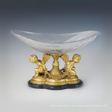 Crystal Vase Statue Winkel Cupid Bronze Skulptur Tpgp-026