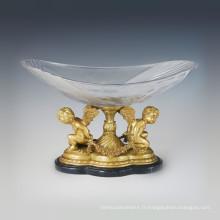 Vase en cristal Statue Angle Sculpture en bronze Cupidon Tpgp-026