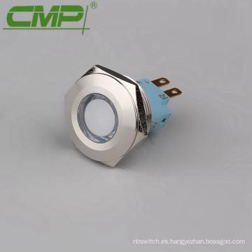 Luz indicadora de 25 mm RGB de acero inoxidable de metal de 25 mm