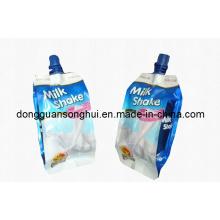 Sac à lait / sac à bec liquide / sac en plastique