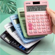 Promotional Calculator Colorful 12 Digits Big Keys Big LCD Soft Keys Desktop Calculator