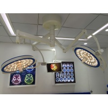 Lâmpada Cirúrgica LED tipo Abóbada Dupla de Teto Duplo
