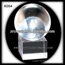 schöne k9 Kristallkugel K054