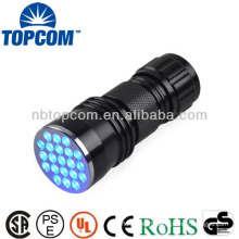 Aluminum mini 21 blue led flashlight