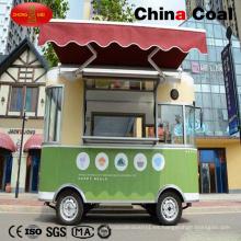 Carrito Vending móvil eléctrico verde de alimentos