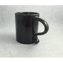 Caneca preta nova, caneca de café preto, caneca de café preta