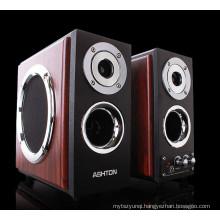 HI-FI 2.0 multimedia speaker,wooden speaker box