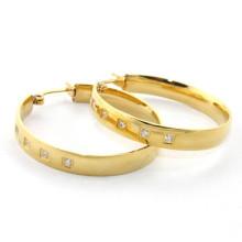 Einfache beliebte kleine Zirkon Reifen 316 Edelstahl Diamant Ohrring für Frauen