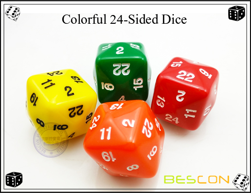 Colorful 24-Sided Dice