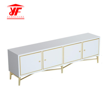 White TV Set Table Design meubelmodellen