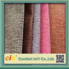 Tissu en polyester et chiffon en chennille avec tissu T / C