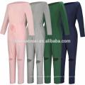 Pure Color Bodycon Sexy Sweat Suit Cintura Alta Fora Do Ombro Mulheres Casuais Jumpsuits