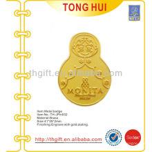 Brass Tumbler diseño lapicero / insignia de recuerdo