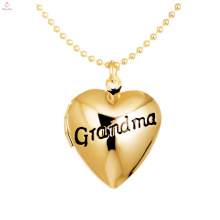 Custom Engraved Alphabet Photo Floating Locket Heart Charms DIY Grandma Pendant