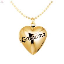 Personalizado Gravado Alfabeto Foto Medalhão Flutuante Encantos Do Coração Pingente de Avó DIY