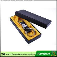 Chaveiro de couro de anel duplo