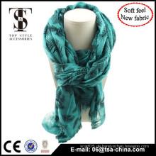 2015 Long Fashionable Design Schal, China Schal Fabrik Großhandel Beflockung Schal