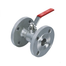 Integral Double Flange Ball Valve with Lever Operator