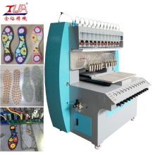 China for China Pvc Label Dispensing Machine, Pvc Badge Dispensing Machine, 8 Color Pvc Dispensing Machine, PVC Cup Coaster Dispensing Machine Manufacturer How to Make Plastic Shoe Sole export to Italy Manufacturer