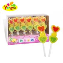Lollipop Supplier Sweet Fruity Flavor Heart To Heart Lollipop