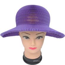Chapéu de papel dobrável para proteção solar Chapéu de verão de crianças coloridas
