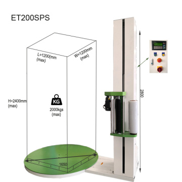 Machine d'emballage étirable semi-automatique