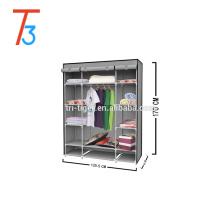 Armoire à rideaux à trois portes en tissu non tissé