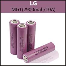 Batteries rechargeables authentiques LG Mg1 (2900mAh / 10A) 18650 pour E Cig