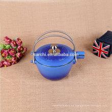 Esmalte de hierro fundido chino té tetera