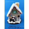 Christmas House Ceramic Tealight Candle Holder