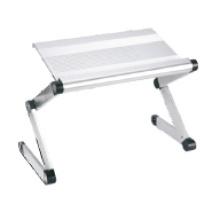 "Laptop Desk Alu. Panel Foldable Height Adjustable Upto 17"" (T2B)"