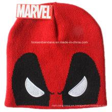 Logotipo por encargo bordado Promotioanl Sombrero hecho punto acrílico de la gorrita tejida