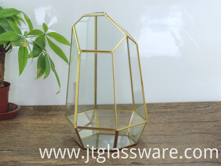 Home decoration Glass Geometric Terrarium