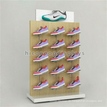 Fabrik Preis Werbung Ausrüstung Freistehende Schuhe Shop Eiche Holz oder Buche Schuh Display Unit