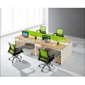 Green partition 4 person staff desk 02