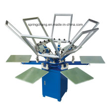6 Color 6 Station Manual T Shirt Carousel Screen Printing Press Spm650