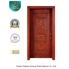 Puerta de seguridad de estilo clásico con talla (t-1012)