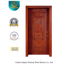 Porta de segurança estilo clássico com escultura (t-1012)