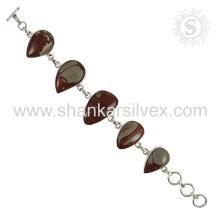 Novo Lustrous Larimar Gemstone Bracelet 925 Sterling Silver Jewelry Handmade Indian Online Jewelry