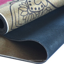 Washable Non-slip Cotton Linen Absorbent Entrance Door Mat rubber back kitchen mat