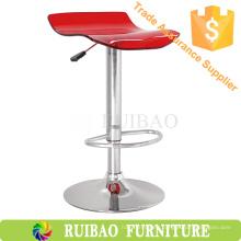 Las mejores ventas de acrílico Bar Stool Bar Chair con base cromada en muebles de acrílico