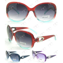 Metal Decoration Ladies Sunglasses (MS13039)