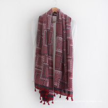 Dots печатных мода вискоза шелк Леди шарф (YKY1156)