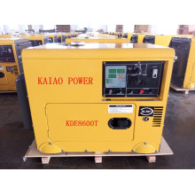 AC Single Phase 60Hz/6kw Key Start Silent Diesel Generator with Digital Panel Board for Hotel and Shop Use
