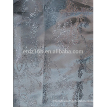 Nouvelle arrivée Grand motif de fleurs 100% polyester Tissu jacquard teinté en fil de polyester pour fenêtre