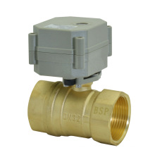 1 válvula de bola de cobre amarillo del actuador eléctrico de 1 / 4''230V (T32-B2-C)