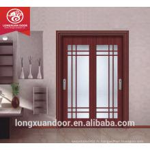 Porte en bois double vitrage, porte coulissante en bois, porte coulissante pour cuisine