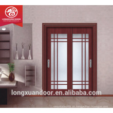 Porta de madeira de vidro duplo, porta deslizante de vidro de porta de vidro, porta deslizante de cozinha