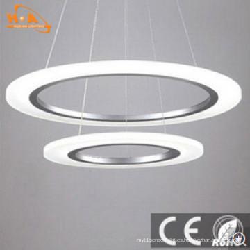 Lámpara colgante de acrílico de la decoración interior blanca caliente del dormitorio